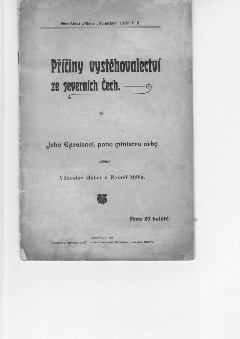 Věkoslav Haber, Rudolf Máša: Příčiny vystěhovalectví ze severních Čech